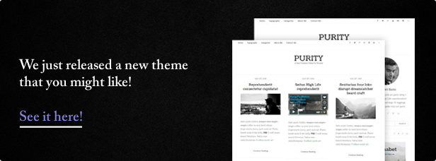 Purity - Clean & Minimal Blog WordPress Theme