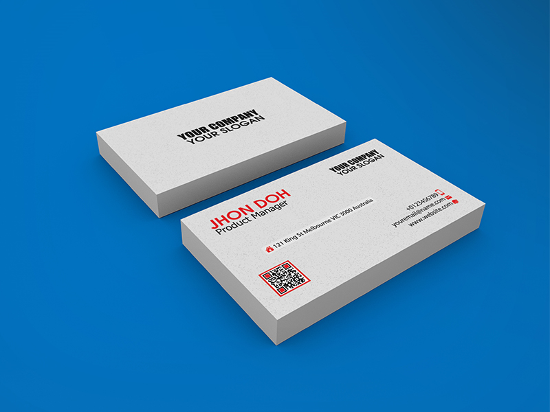 3 Realistic Business Card Mock-up