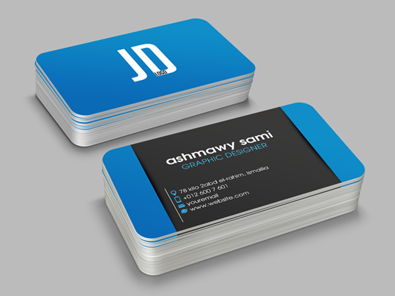 2 Card 4 Different Colors Creative Business Card